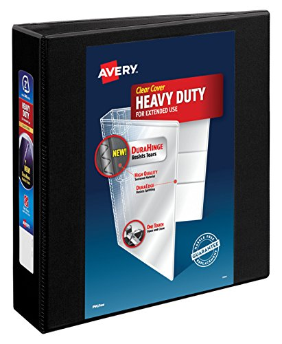 "Avery Heavy-Duty View Binder, 2"" One Touch Slant Rings, 500-"