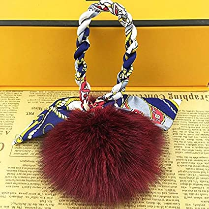 Amazon.com: Rarido Luxury 10cm Fluffy Pom pom Fox Fur Ball ...
