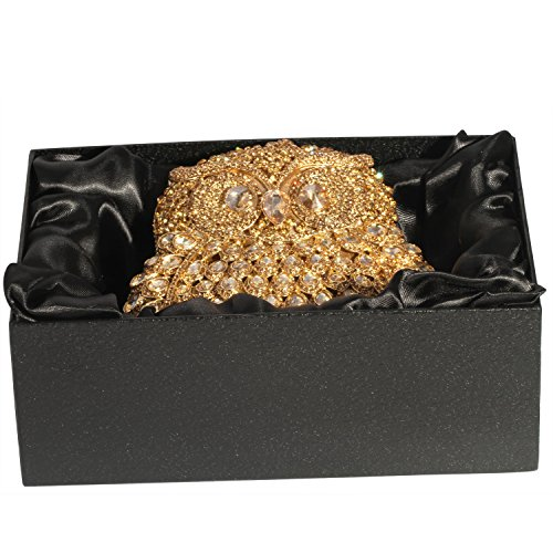 Gold Shape Cylindrical Crystal Women Clutch Evening Bags Digabi Sg40Un
