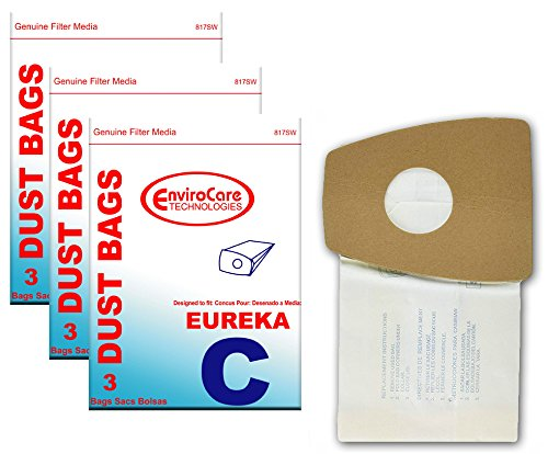 EnviroCare Replacement Vacuum Bags for Eureka Mighty Mite Type C 9 Bags