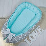 Baby nest bed or toddler size nest, portable crib, co sleeper babynest for newborn and toddlers cocoon bassinet cot bed