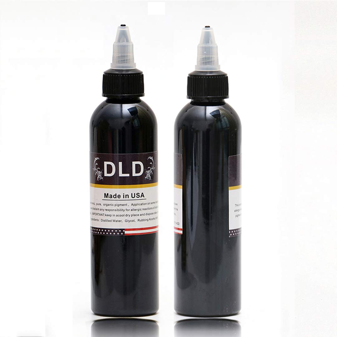 DLD 120ml Natural Pure Plant Tattoo Pigment Permanent Makeup 4oz Bottle Tattoos Ink Pigment For Body Professional Beauty Art Supplies AISHIMAN