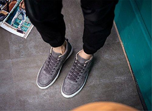 Bininbox Mens Casual Moda Sneakers High-top Traspirante Scarpe Da Ginnastica Sportive In Esecuzione Grigio