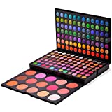 RoseFlower Pro 183 Colors Eyeshadow Makeup Palette Cosemetic Contouring Kit Combination with Concealer and Blusher - Ideal for Professional and Daily Use