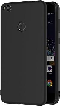 AICEK Funda Huawei P8 Lite 2017, Negro Silicona Fundas para P8 ...