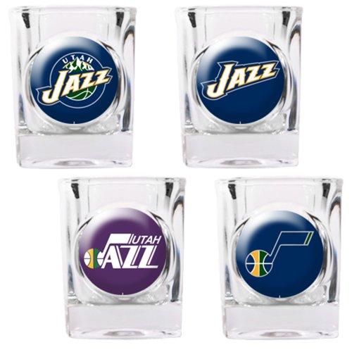 NBA Utah Jazz Four Piece Square Shot Glass Set (Individual Logos)
