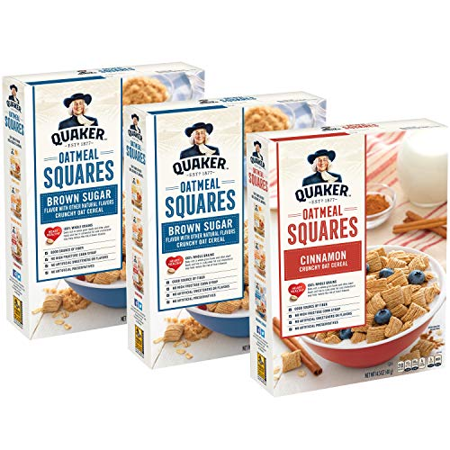 - Quaker Oatmeal Squares Breakfast Cereal Variety Pack, 43.5 Ounce