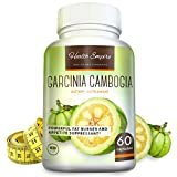 #9: Garcinia Cambogia - 100% Pure Garcinia Cambogia Extract with HCA (1600mg) - Natural Appetite Suppressant - Weight Loss Supplement - 60 Capsules - Order Risk Free!