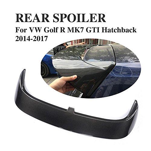 Jcsportline Carbon Fiber Rear Roof Window Spoiler Wing fits Volkswagen VW Golf R MK7 GTI Hatchback 2014-2017