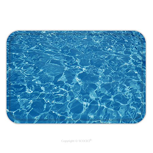 Flannel Microfiber Non-slip Rubber Backing Soft Absorbent Doormat Mat Rug Carpet Hotel Swimming Pool With Sunny Reflections 107966306 for Indoor/Outdoor/Bathroom/Kitchen/Workstations
