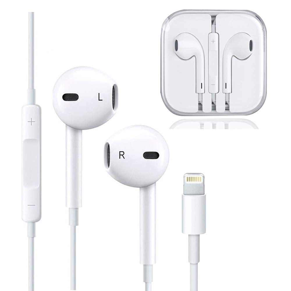 Earphones, Headphones with Microphone Earbuds Stereo Headphones and Noise Isolating Headset Compatible iPhone 7/7 Plus iPhone8/8Plus/iPhone X iPad Earphones, Support All System