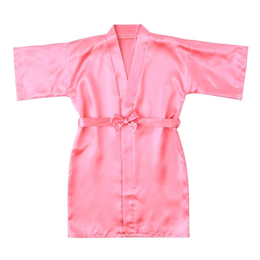 Frashing - Albornoz para niña, de Seda, Kimono, chándal, Pijamas ...