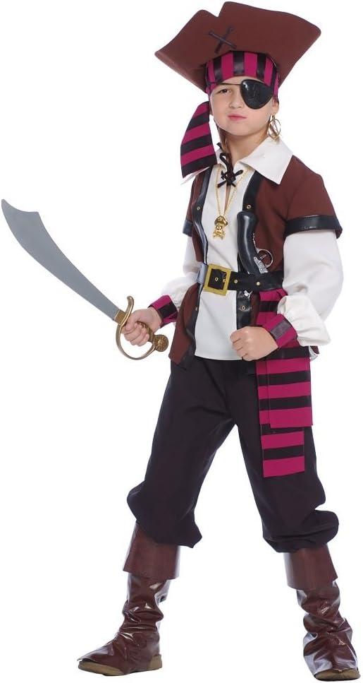 Guirca - Jack Sparrow Disfraz Pirata de los Siete Mares ...