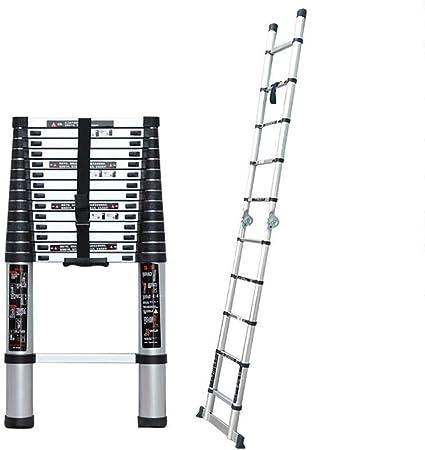 WYNZYYX Escalera Telescópica, Escalera De Aluminio Multifunción Escalera Portátil Extendida Escalera Plegable Escalera Estándar (Size : 4.1m): Amazon.es: Hogar