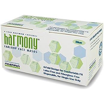 Amazon.com: Adenna Harmony 3-ply/4-fold Earloop Face Mask