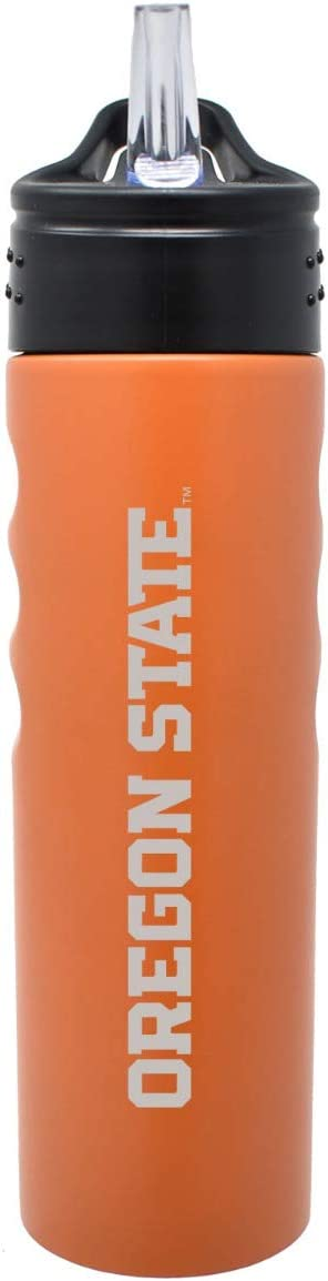 LXG, Inc. Oregon State University-24oz. Stainless Steel Grip Water Bottle with Straw-Orange