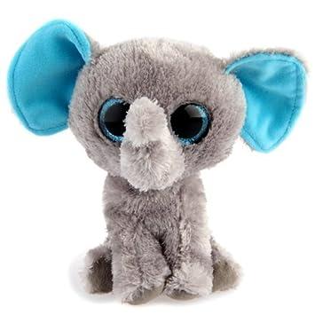 TOOGOO (R) elefante elefante de peluche ojos grandes Kids Toy 16 cm