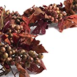 Factory Direct Craft® Plentiful Sparkling Artificial Fall Leaf and Berry Garland for Decorating and Designing