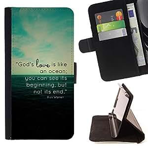 Momo Phone Case / Flip Funda de Cuero Case Cover - EL AMOR DE DIOS ES COMO UN OCÉANO - Samsung Galaxy S5 Mini, SM-G800