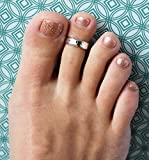 Toe Ring | 5mm Hammered .925 Sterling Silver