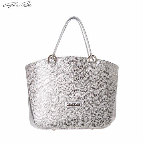 Cango&Rinaldi , Sac pour femme à porter à l'épaule argent Silver
