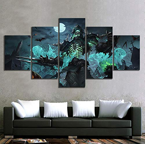 yisanwu Zed The Master of Shadows League of Legends Halloween Skins Game Poster Canvas Art Hd Wall Paintings for Home Decor 40X60Cmx2 40X80Cmx2 40X100Cmx1 Frameless -