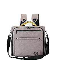 Lekebaby Diaper Bag with Changing Pad Can be Used as Nappy Backpack, Messenger Bag, Handbag and Stroller Bag for Mom
