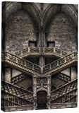 JP London DDCNV1 X 54512 Ready to Hang Feature Wall Art Tribute to Escher Stone Door Symmetry Architecture 2'' Thick Heavyweight Gallery Wrap Canvas 60'' x 40''