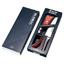 Global 2-Piece, G2 Cook Knife and 220Gb Mino Sharp