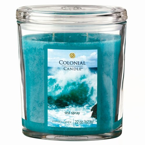 - Colonial Candle Sea Spray 22 oz Scented Oval Jar Candle
