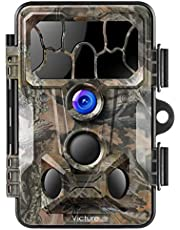 """Victure Wildkamera mit Bewegungsmelder Nachtsicht 20MP 1080P 130° Weitwinkel Vision IP66 Wasserdicht mit 2,4""""LCD Display für Jagd und Sicherheit zu Hause"""