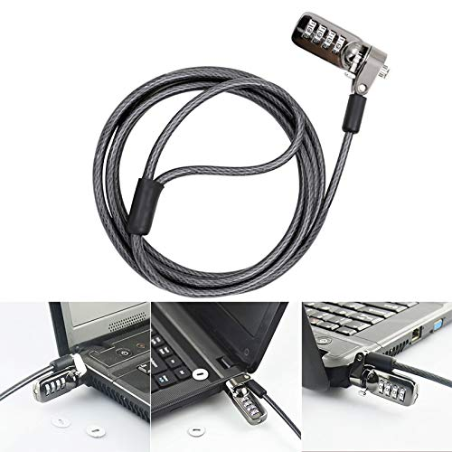 Fasmodel - Notebook Laptop Combination Lock Security Cable 4 Digit Password Protections Anti Theft Device