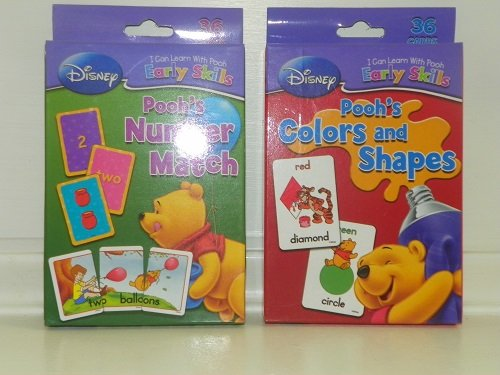 DISNEY WINNIE THE POOH *Colors & Shapes* FLASH CARDS Boys Gi