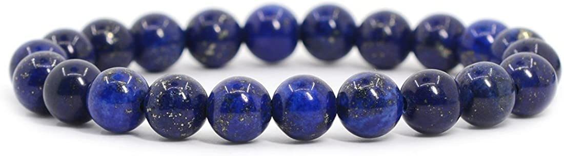 Justinstones Gem Semi Precious Gemstone 8mm Round Beads Stretch Bracelet 7 Inch Unisex