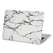 Mosiso Plastic Hard Case Cover Only for MacBook Pro 13 Inch with Retina Display No CD-ROM (A1502/A1425, Version 2015/2014/2013/end 2012), New White Marble Pattern