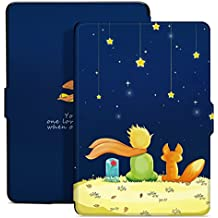 Ayotu Colorful Case for Kindle Paperwhite Thinnest and Lightest PU Leather Smart Cover, Auto Wake/Sleep,Fits All 2012, 2013, 2015 and 2016 Versions Kindle Paperwhite 300 PPI,K5-09 The Boy and Fox