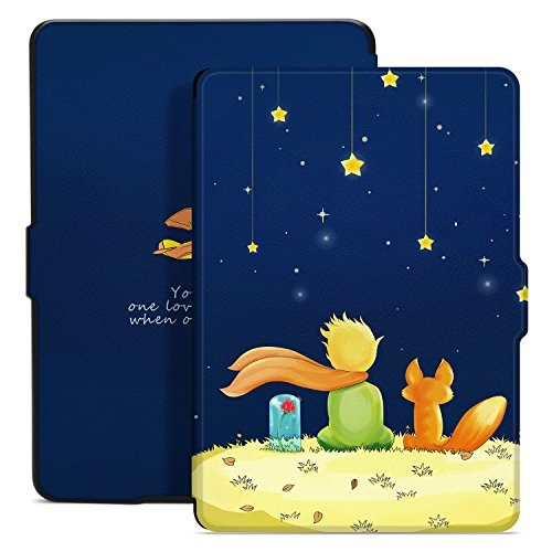 Ayotu Colorful Case for Kindle Paperwhite Thinnest and Lightest PU Leather Smart Cover, Auto Wake/Sleep,Fits All 2012, 2013, 2015 and 2016 Versions Kindle Paperwhite 300 PPI,K5-09 The Boy and (Colorful Smart Cover)