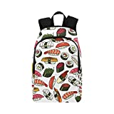 Sushi Custom Casual Backpack School Bag Travel Daypack Review