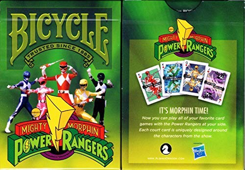 Albino Dragon Power Rangers Bicycle Playing Cards Poker Size Deck USPCC Custom Limited