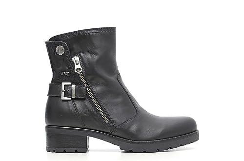 3c04ae93fd0 Nero Giardini Mujer trozo de Cuero Negro A616543D artículo 100 Made in  Italy Otoño Invierno 2016 2020  Amazon.es  Zapatos y complementos