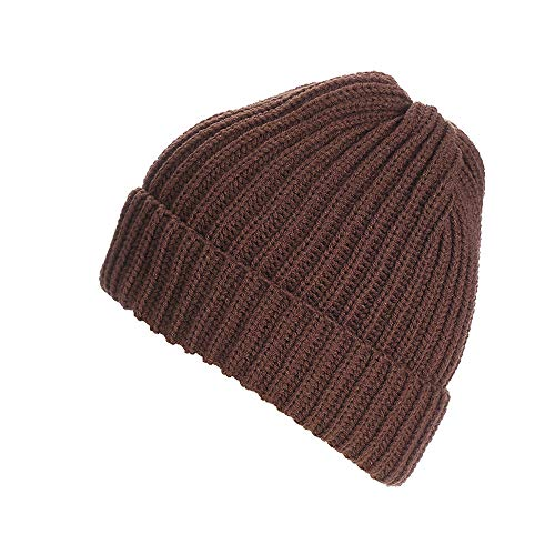 URIBAKE ❤ Unisex Beanies Knitted Wool Ski Baggy Solid Cap Winter Warm Hat Alternative Colors -