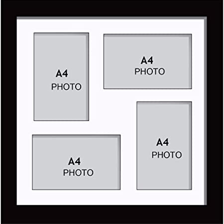Large Multi Picture Photo Aperture Frame, A4 size with 4 openings in ...