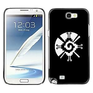 Caucho caso de Shell duro de la cubierta de accesorios de protección BY RAYDREAMMM - Samsung Galaxy Note 2 N7100 - Tribal Native Pattern Vortex