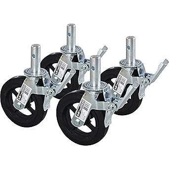 Andamio ruedas con freno de pie 4-PK., Modelo # m-mbc8 K4: Amazon.es: Amazon.es