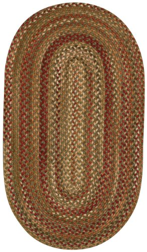Manchester Sage Red Hues Multi Rug Rug Size: Oval 20