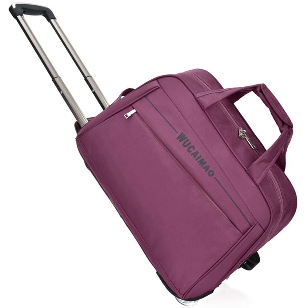 Color : Purple, Size : 473027 Travel Bags Trolley Case High Capacity Waterproof Scratchproof fold Luggage Suitcases Carry On Hand Luggage Durable Hold Tingting