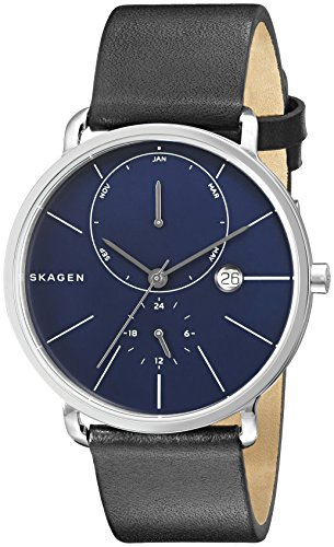 Skagen-Mens-SKW6241-Hagen-Black-Leather-Watch