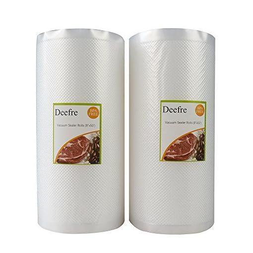 Deefre Vacuum Sealer Rolls Sous Vide Bags Food Vac Storage