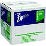 Ziploc 94600 Resealable Sandwich Bags, 1.2mil, 6 1/2 x 6, Clear (Box of 500)