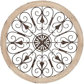 Charming Deco 79 Metal Wood Wall Panel, 36 Inch